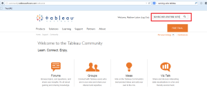 Searches Entire Tableau Site